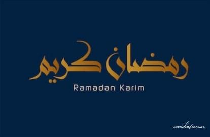 Persediaan Menyambut Ramadhan